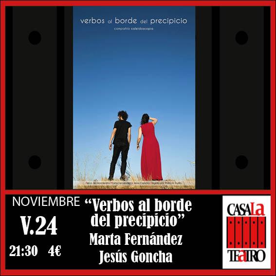 VERBOS AL BORDE DEL PRECIPICIO. Marta Fernández y Jesús Goncha