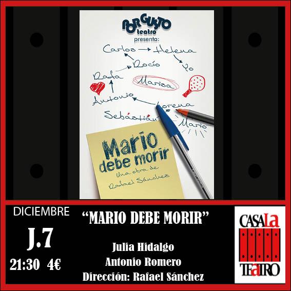 MARIO DEBE MORIR. Julia Hidalgo y Antonio Romero