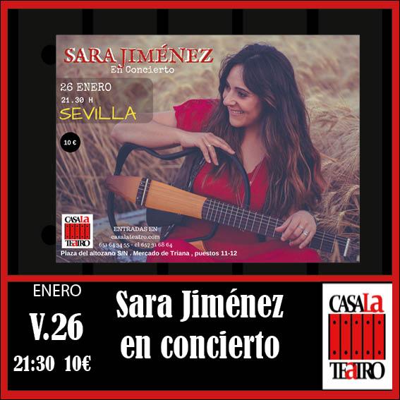 SARA JIMENEZ EN CONCERT
