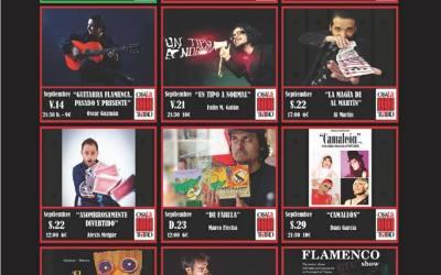Programación Teatro Septiembre en CasaLa Teatro