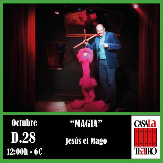 MAGIA con Jesús el Mago en CasaLa Teatro