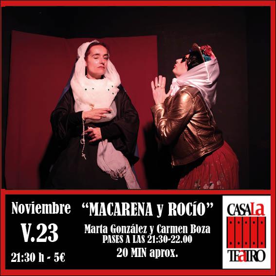 MACARENA Y ROCÍOcomedia en CasaLa Teatro