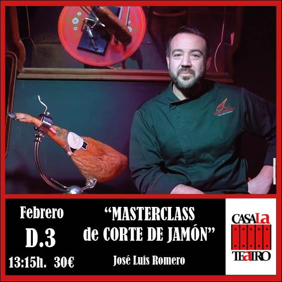 MASTER CLASS CORTE DE JAMÓN con José Luis Romero