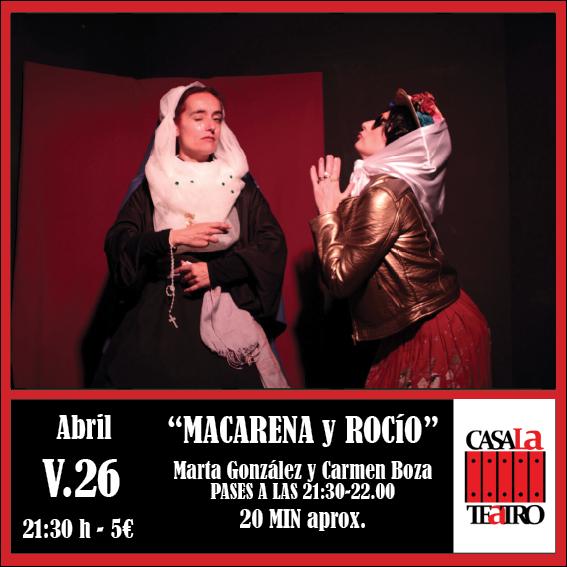 MACARENA Y ROCÍO con Marta González y Carmen Boza.