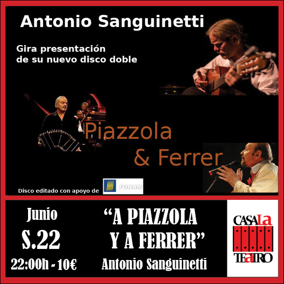 A PIAZZOLA AND A FERRER concert with Antonio Sanguinetti
