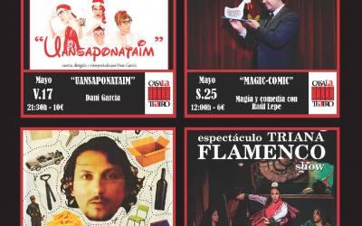 Programación de Teatro en Mayo en CasaLa Teatro