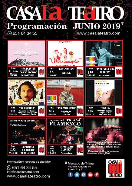 Programación de Teatro en Junio de CasaLa Teatro