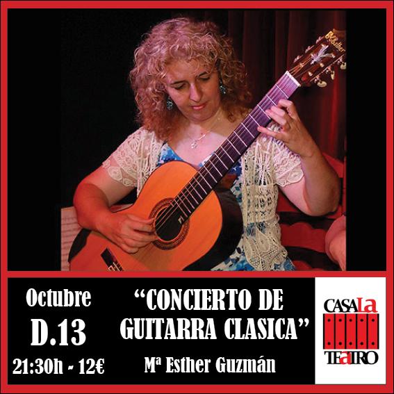 CLASSICAL GUITAR CONCERT with Mª Esther Guzmán