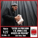 BETWEEN THE UNCERTAIN AND LOVE TO A TEDDY Ovejita Nino with Luis Sosa